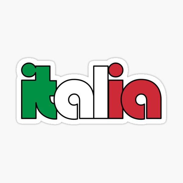 Italia (Italian Flag) Sticker