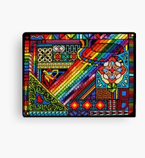 PRIMARILY Abstract...a needlepoint Canvas Print