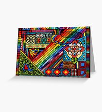 PRIMARILY Abstract...a needlepoint Greeting Card