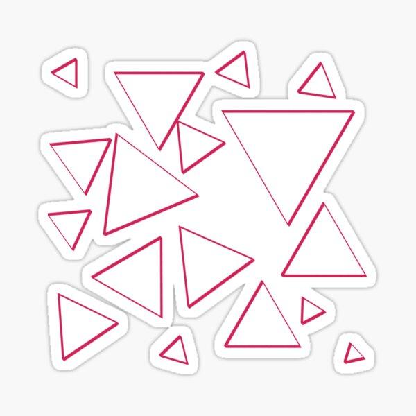 Funky Nineties Style Pink Triangle Pattern Sticker