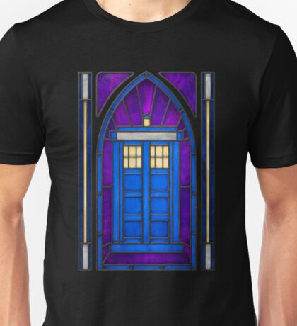 Stained Glass Series - TARDIS T-Shirt