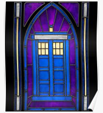 Stained Glass Series - TARDIS Poster