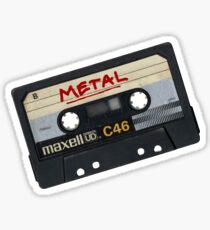 Metal Mix Tape Sticker