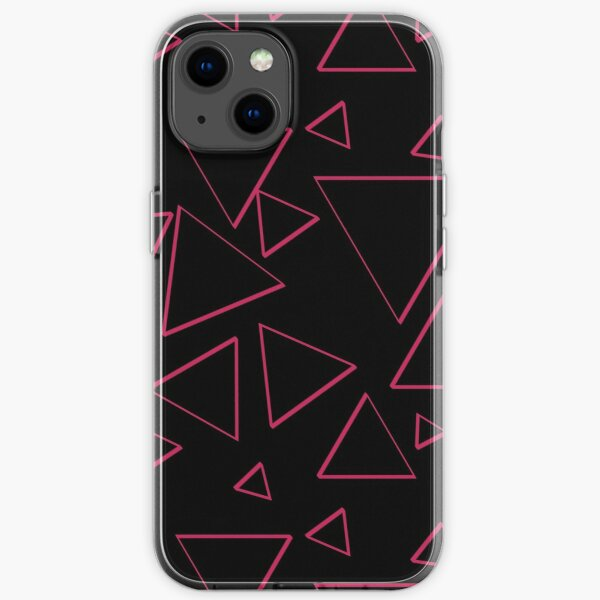 Funky Nineties Style Pink Triangle Pattern iPhone Soft Case