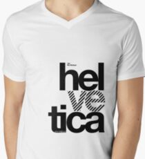 Hel ve tica (b) .... Men's V-Neck T-Shirt