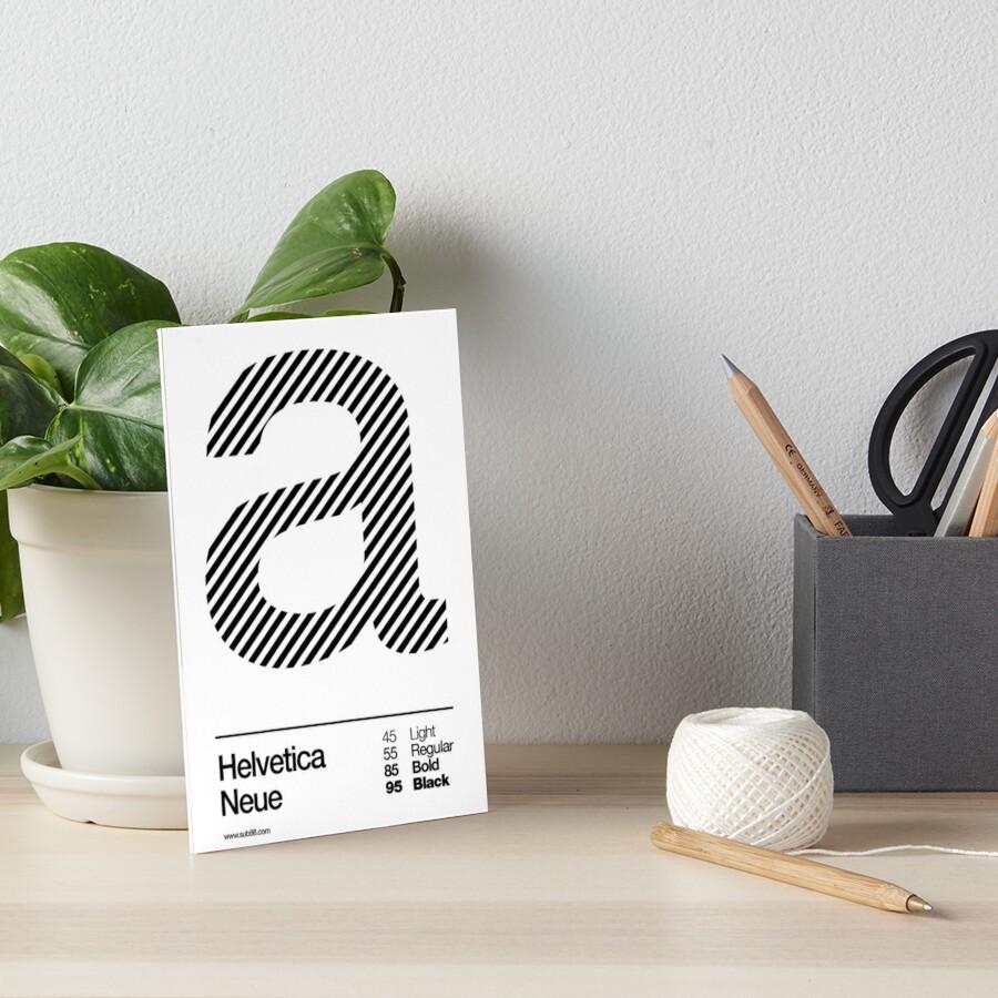 a .... Helvetica Neue (b) Art Board Print