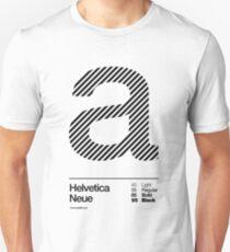a .... Helvetica Neue (b) Unisex T-Shirt