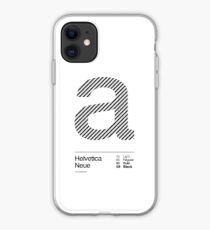 a .... Helvetica Neue (b) iPhone Case