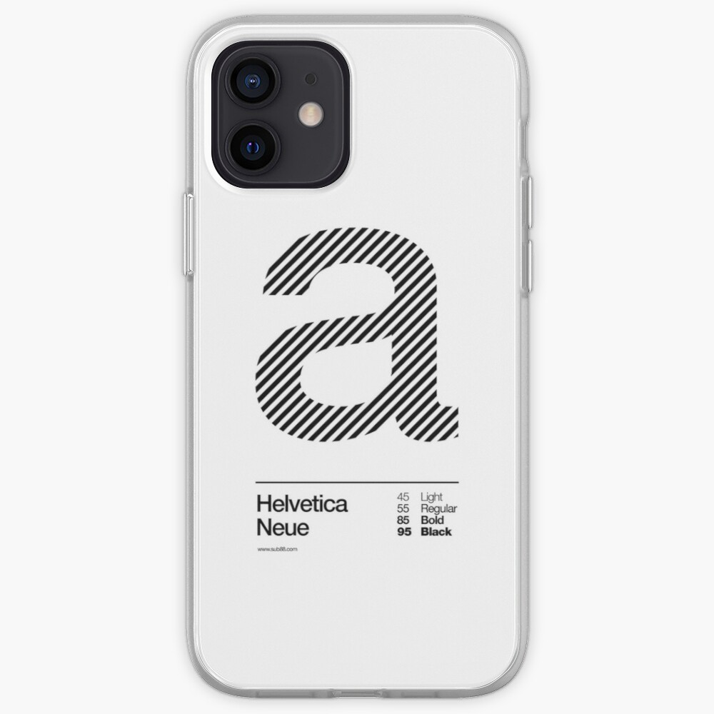 a .... Helvetica Neue (b) iPhone Case & Cover