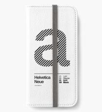 a .... Helvetica Neue (b) iPhone Wallet/Case/Skin