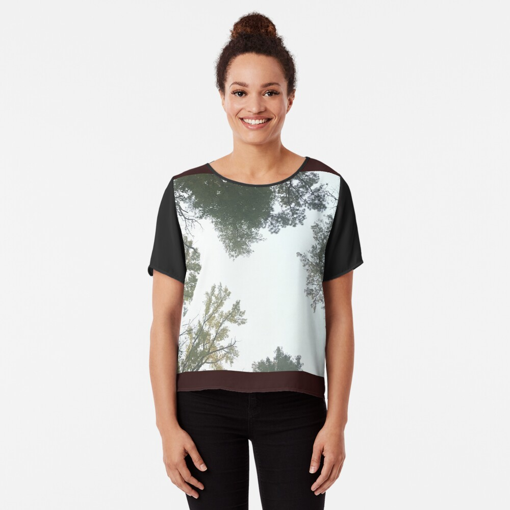 Vibrant Forest Women's Chiffon Top Front