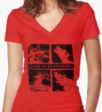 Game of Marauders Women's Fitted V-Neck T-Shirt