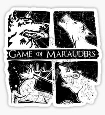 Game of Marauders Sticker