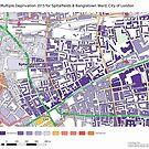 Multiple Deprivation Spitalfields & Banglatown ward, City of London by ianturton
