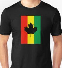 Rasta Reggae Maple Leaf Flag T-Shirt