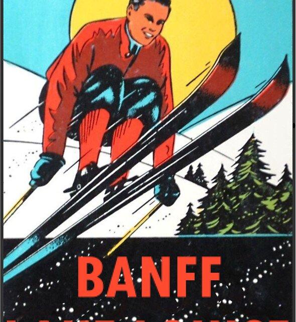 Banff Lake Louise Ski Vintage Reise Aufkleber von hilda74