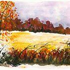 Whispering Grove, Watercolor Landscape Art by ItayaArt