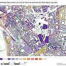 Multiple Deprivation St Pancras & Somers Town ward, Camden by ianturton