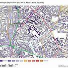 Multiple Deprivation St Peter's ward, Hackney by ianturton
