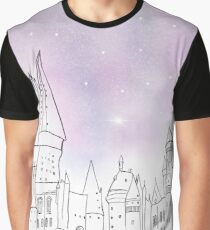 Galaxy Hogwarts Graphic T-Shirt