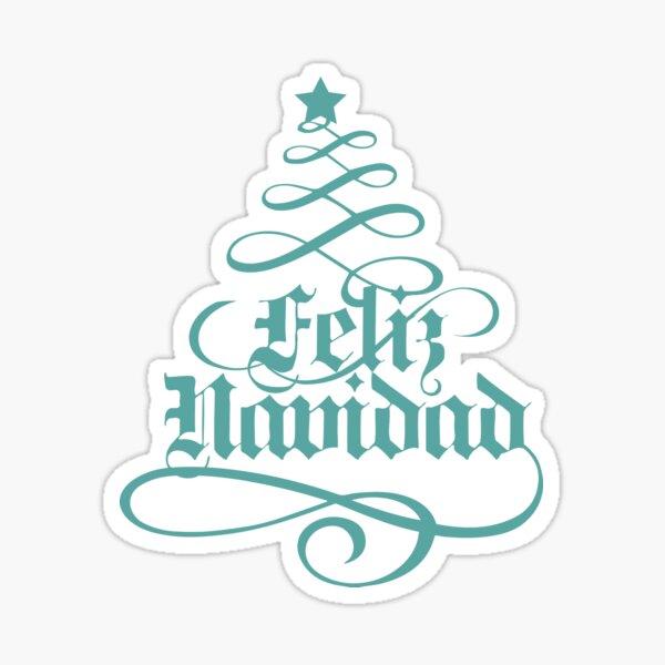 Feliz Navidad/Merry Christmas Sticker