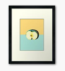 Modern Pastel Fruit Apple Framed Print