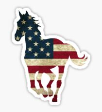 USA Horse Running Sticker