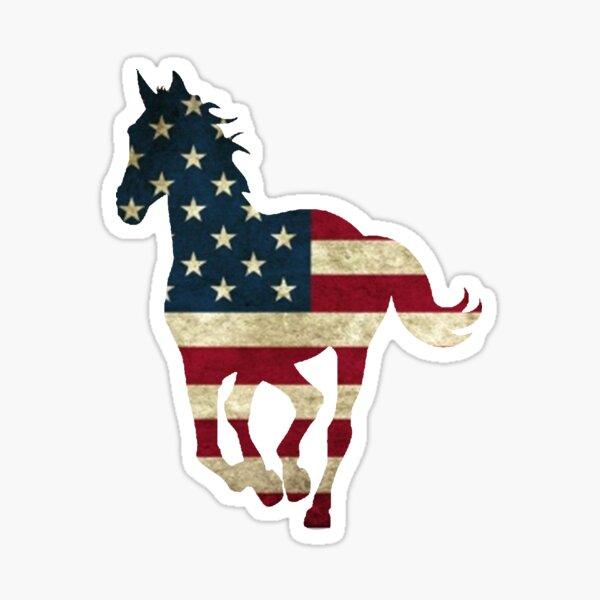 USA Horse Running Sticker