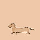 Wired Dachshund 2 by Diana-Lee Saville