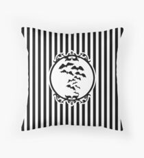 Stripes and Bats Throw Pillow