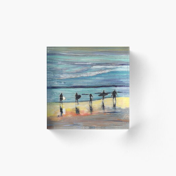 Day at Surfer Joe's by Riccoboni, Surfing Picture Acrylic Block