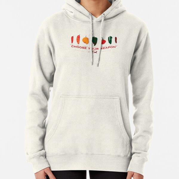 Choose Your Weapon Hot Peppers  Pullover Hoodie