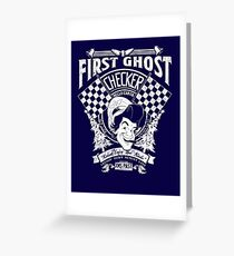 First Ghost Cab Co Greeting Card