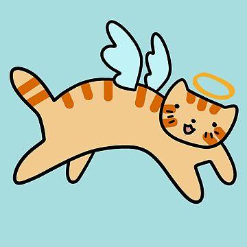 Orange Tabby Cat Angel by SaradaBoru