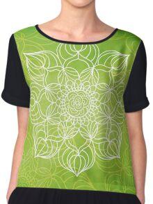 Lime mandala Women's Chiffon Top