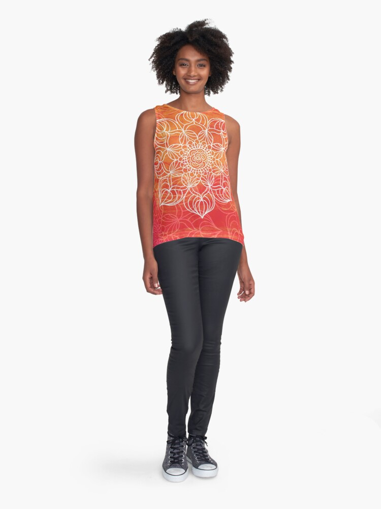 Vista alternativa de Blusa sin mangas Orange mandala