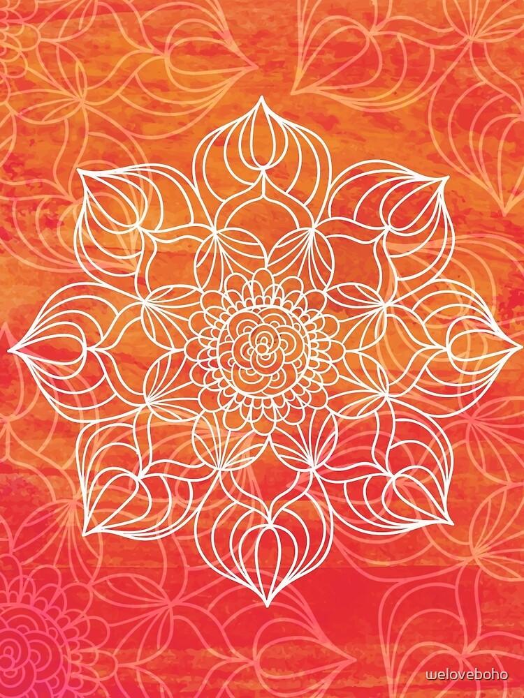Orange mandala de weloveboho