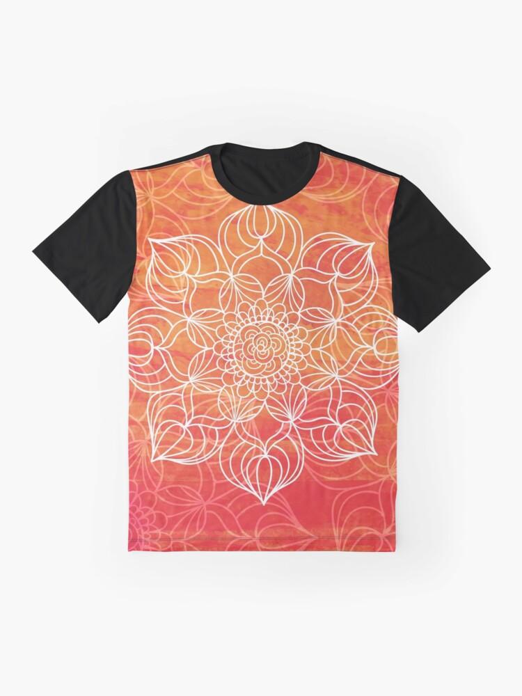 Vista alternativa de Camiseta gráfica Orange mandala