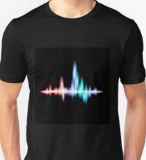 Fluorescent sound wave design Unisex T-Shirt