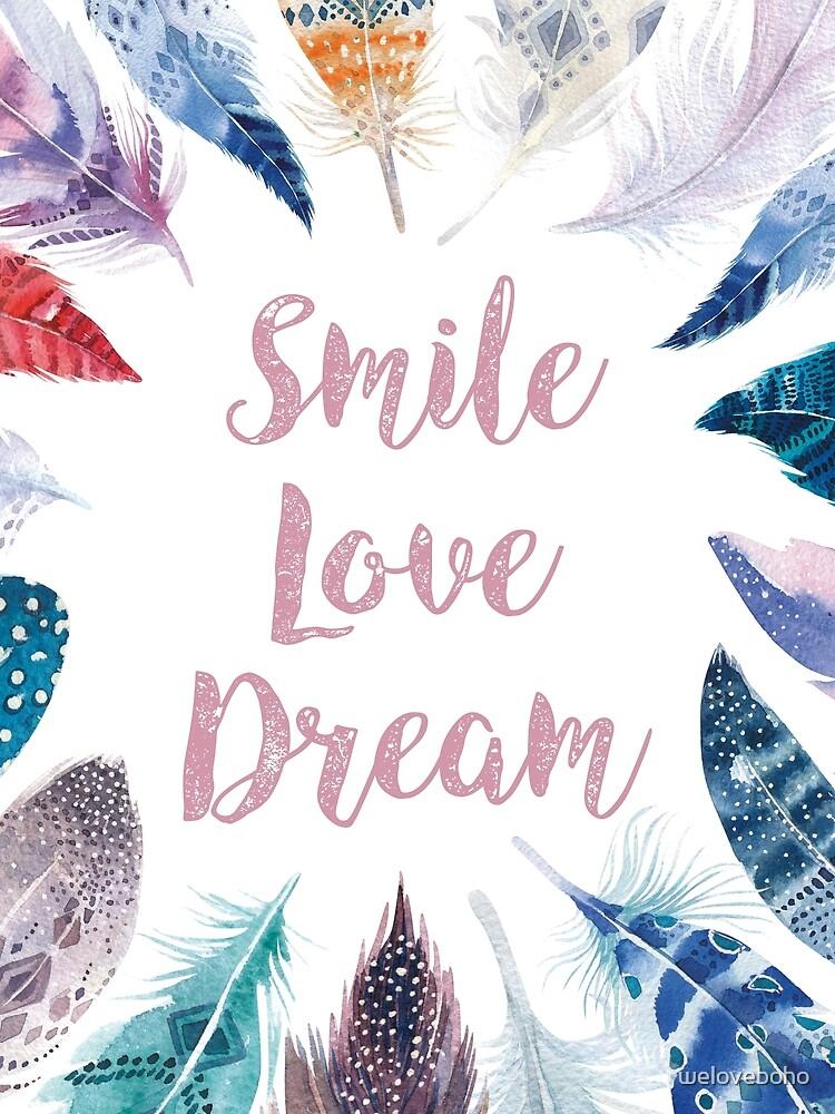 Feathers, Smile, love, dream de weloveboho