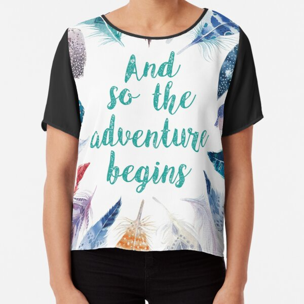 Feathers, And so the adventure begins Blusa