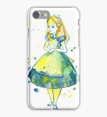 Pretty Girl In Blue Dress  iPhone Case/Skin