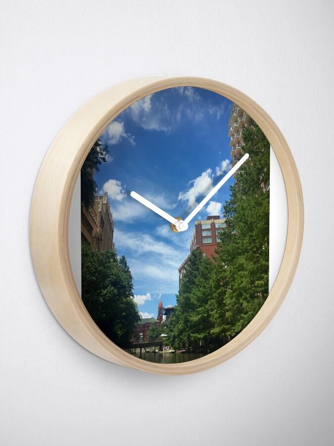 Alternate view of River walk  Clock