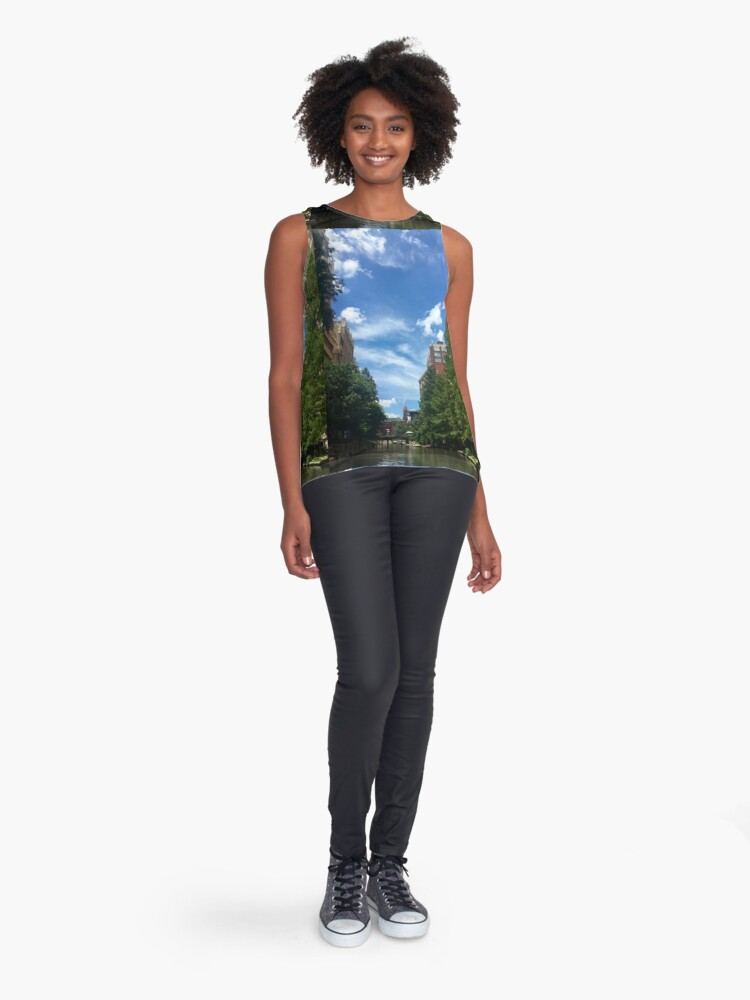 Alternate view of River walk  Sleeveless Top