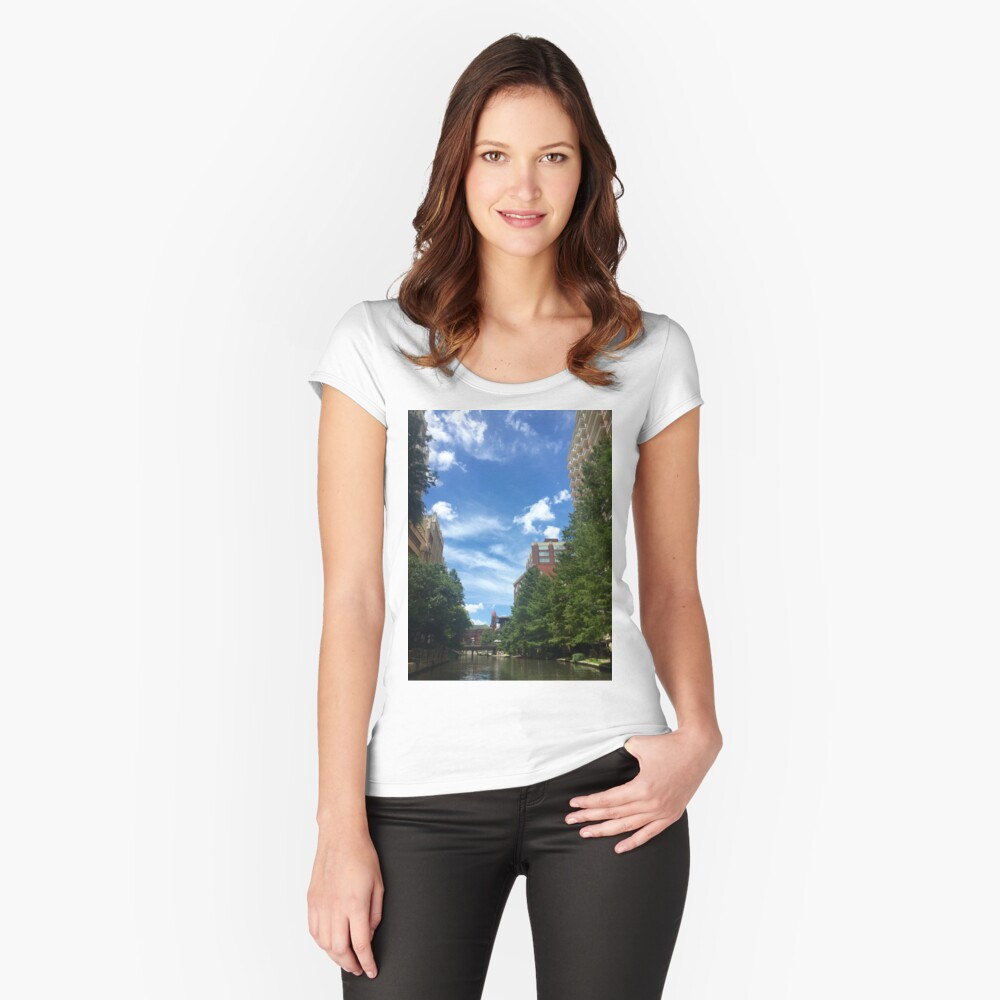 River walk  Fitted Scoop T-Shirt