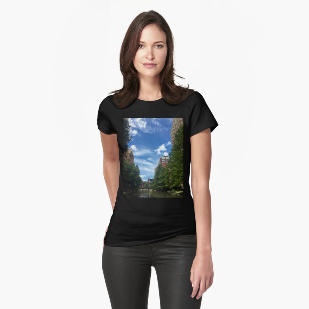 River walk  Fitted T-Shirt