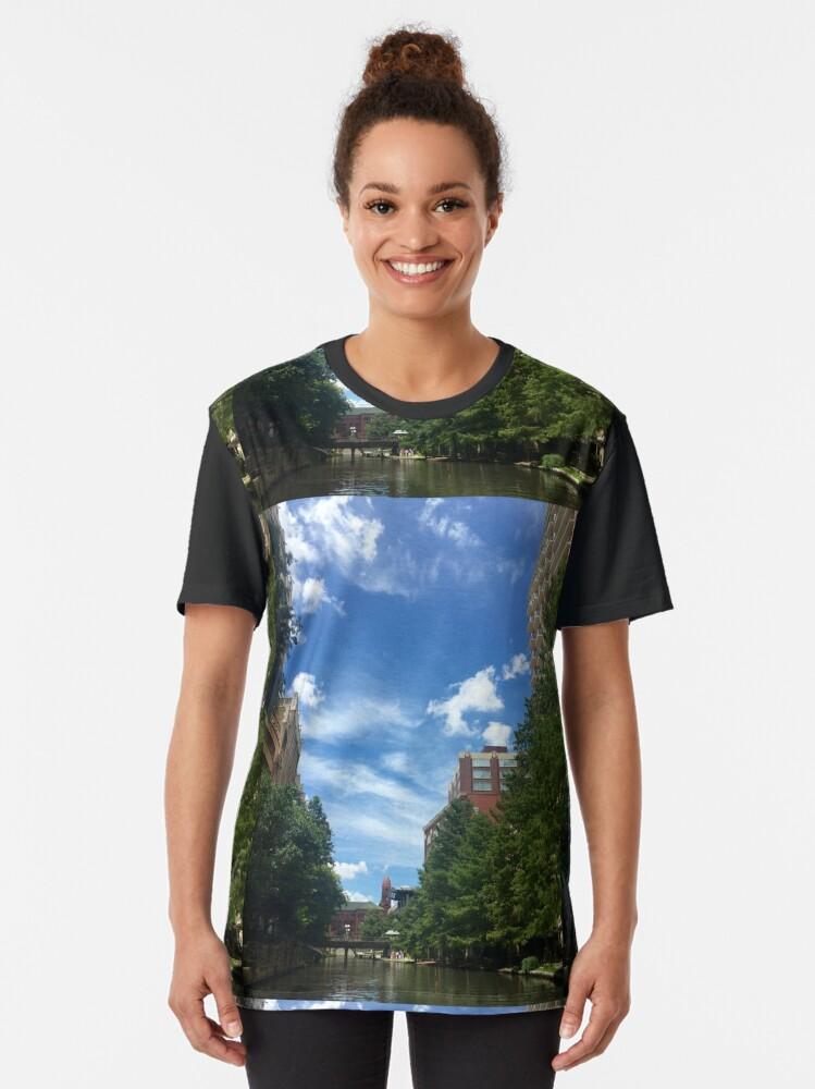 Alternate view of River walk  Graphic T-Shirt