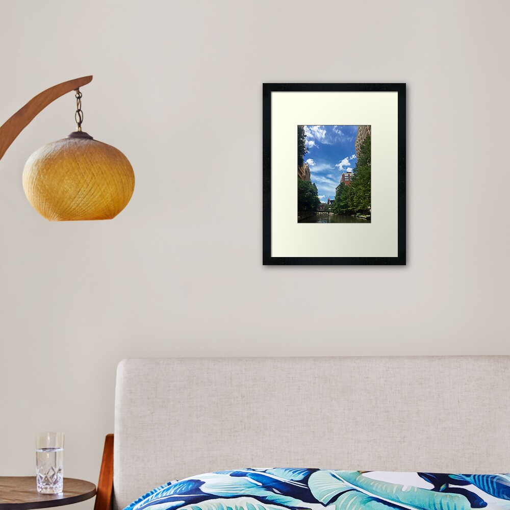 River walk  Framed Art Print