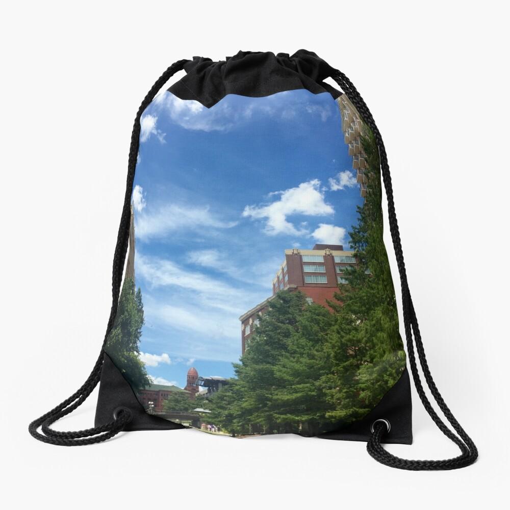 River walk  Drawstring Bag