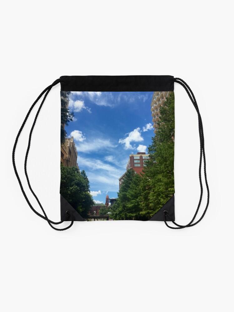 Alternate view of River walk  Drawstring Bag
